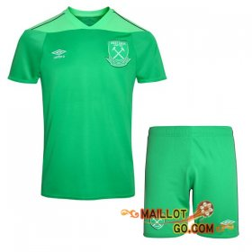 Maillot de Foot West Ham Enfants Gardien de but Vert 2020/2021