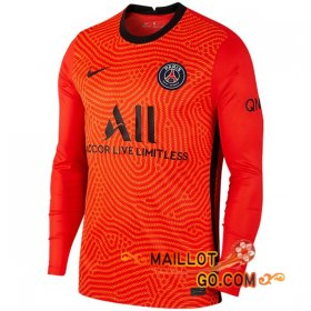 Maillot Foot Paris PSG Gardien de but Manche Longue Orange 20/21